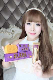 Whitening soap and lotion set