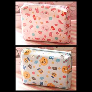 Kakao Friends Beauty Toiletries Pouch Bag (Ryan / Apeach)