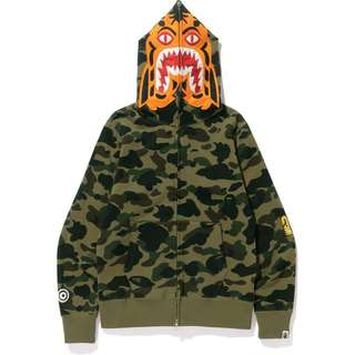 Bathing ape first camo tiger hoodie