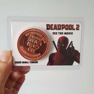 Deadpool 2 Movie Collectibles - Skee-ball Token
