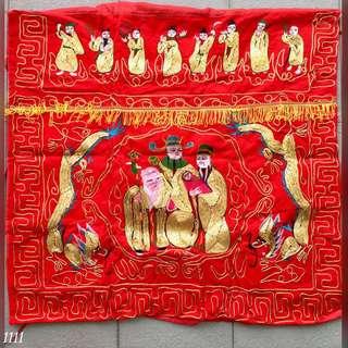 手工刺绣供桌布 (1)