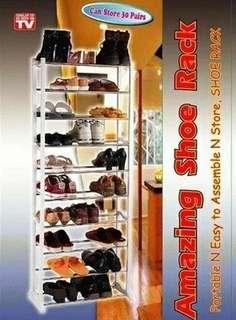 Tempat sendal atau sepatu 10 susun
