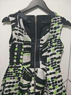Dress black neon