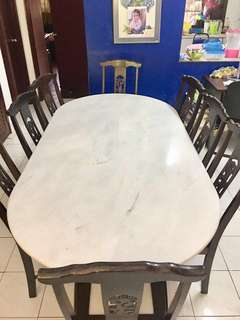 Marble Dining Chair 8 pieces