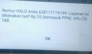 No hallo telkomsel cantik 11 digit prioritas