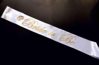 Bride to be sash white