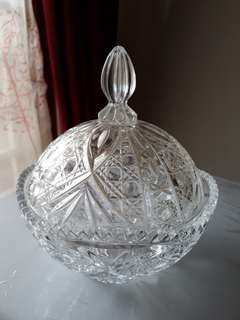 Tempat permen kristal bohemia