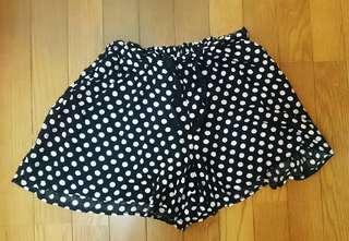 腰鬆緊綁帶棉紗透氣褲裙