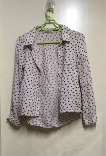 Girls H&M Top With Heart Prints