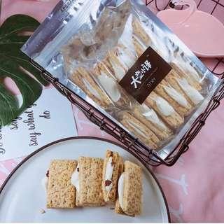 台灣燕麥方塊酥牛軋餅  原味/蔓越莓 12件