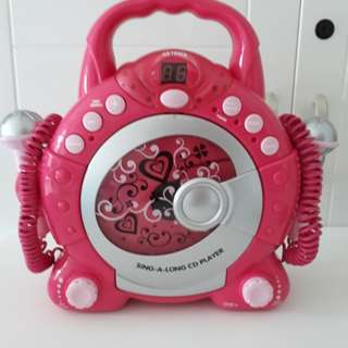 ELC Sing-a-long CD player with 2 microphone