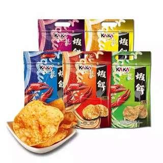 KAKA龍蝦餅 90gx3包  原味/起司/海苔/辣味/麻辣