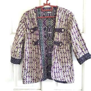 Two Ways Batik Cotton Cardigan