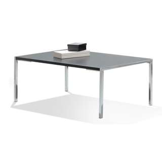 Glass Coffee Table with steel legs