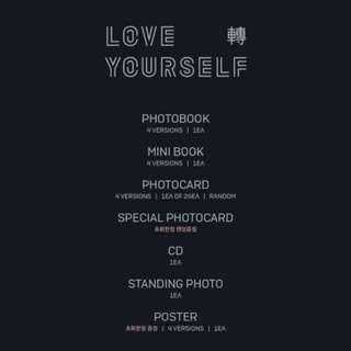 BTS LOVE YOURSELF TEAR ALBUM + LIMITED POSTER