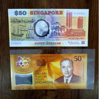 SG 25 and SG 50 Commemorative Notes Polymer - Well Preserved