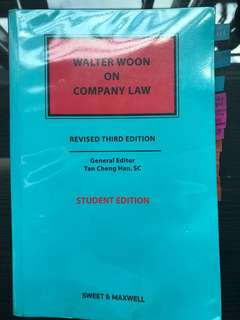 Walter Woon On Company Law