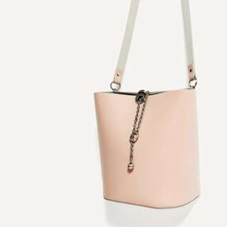 Zara Pink Bucket Bag