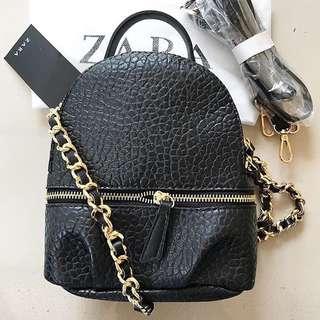 Original Zara Backpack Croco