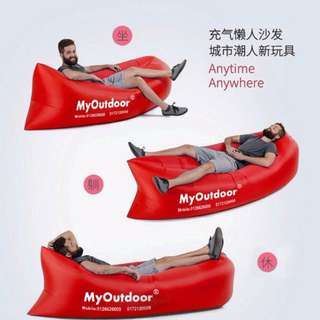 Original Gred AA+ Songpin Air Sofa Bed Side Pocket Outdoor Portable Inflatable Lounger Sleeping Bag