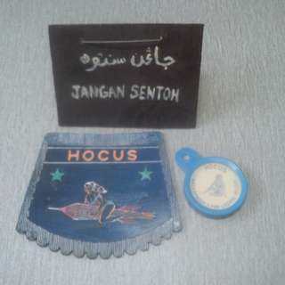 Vespa mudflap & roadtax holder brand HOCUS
