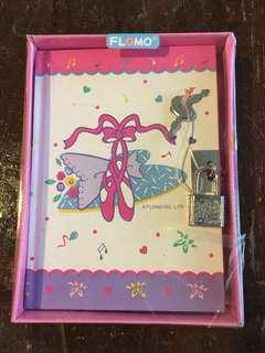 Ballet diary with lock #locked #ballerina #pink #under20 #under10 #oldschool