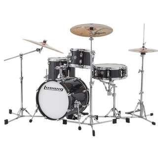 Ludwig LC179XX016DIR Breakbeat By Questlove 4-Piece Drum Kit w/ Bag, Black Gold Sparkle