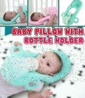 BABY PILLOE WITH BOTTLE HOLDER