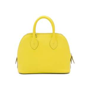 (NEW) Hermes H073444 MINI BOLIDE MYSORE 18.5CM TOTE BAG PHW, LIME / CK9R 全新 手袋 黃色 銀扣