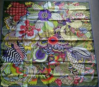 Hermes 90cm x 90 silk scarf. Never used. Print name: Flowers of Africa