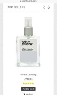 Scent swatch - white laundry