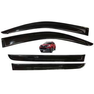 Isuzu MU-X 2014 up Rain Guard Window Sun Visor Aeromax Plain Black Titanium Series