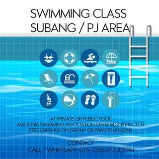 Swimming Lesson ( Subang / PJ Area )