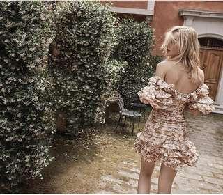 Zimmermann Painted Heart Folds Dress Size 1