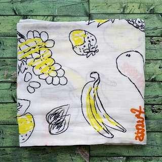 Bedong Bayi Bamboo Muslin Swaddle Lucu - Hoppipollakids - Fruits