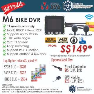 [UPGRADED!] M6 Wifi Motorcycle DVR
