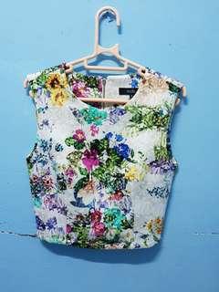 White Rainbow Flower MDS Top