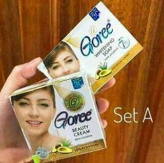 GOREE Whitening Soap & Cream