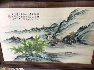 刺繡畫兩幅$3000清貨
