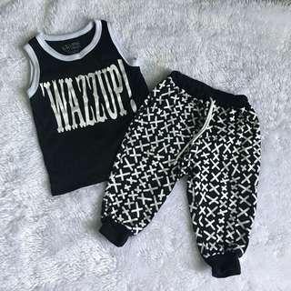 Sando and jogging pants terno