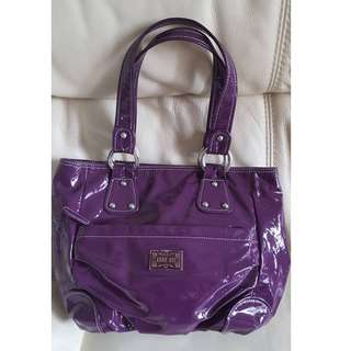 Anna Sui patent leather handbag