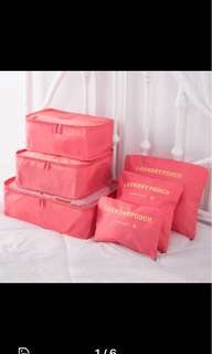 Travel pouches for luggage
