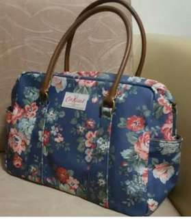 Cath Kidston Bowling Bag with Leather Handle