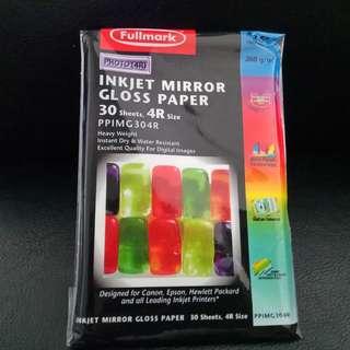FULLMARK Inkjet Mirror Gloss Paper (PPIMG304R). Brand new, never used