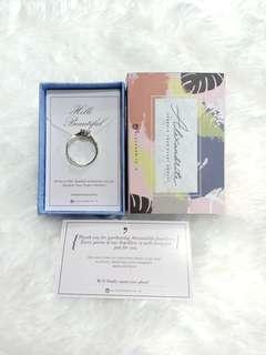Alexandrite Solitaire Diamond Ring