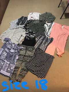 SIZE 18 WOMENS CLOTHING BUNDLE