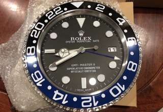 Rolex GMT Master II Batman Clock