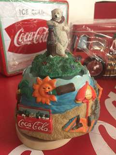 Coca- Cola Musical Windup Bear