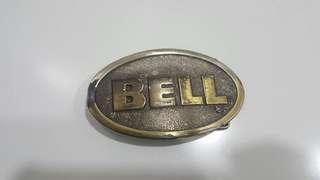Vintage Bell Helmet Belt Buckle