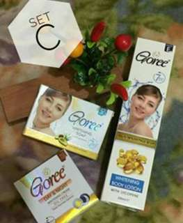 GOREE Whitening Soap & Cream PLUS BODY LOTION